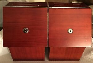 Lot Of 2 My Charity Boxes Wood Suggestion Voting Ballot Donation Locking Box