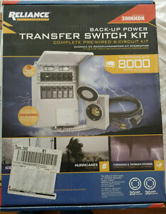 Reliance 8000 Watt Nonfuse 6 circuit Generator Transfer Switch kit