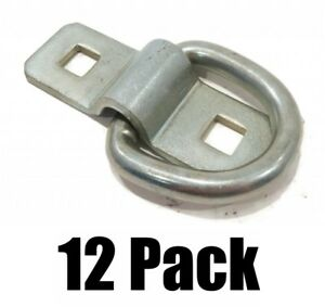 12 3 8 Steel D Rings Clips Tie Down Rope Chain For Truck Trailer Camper Rv