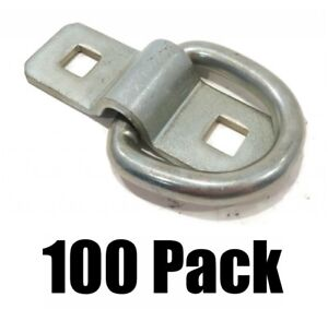 100 3 8 Steel D Rings Clips Tie Down Rope Chain For Truck Trailer Camper Rv