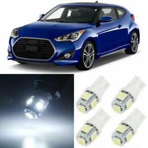 10 X White Interior Led Lights Package For 2012 2017 Hyundai Veloster tool