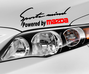 Sports Mind Powered By Mazda Decal Hood Or Body Decal Car Window Sticker