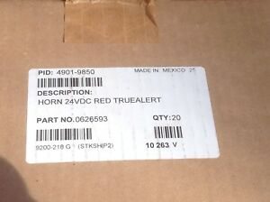 Simplex 4901 9850 Unopened Sealed Red 24vdc Truealert Horn Never Opened Or Used