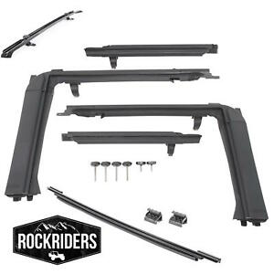 07 17 Jeep Wrangler Unlimited Jk Bowless Frameless Soft Top Hardware Kit