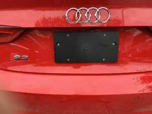 Rear License Plate Mount Tag Bracket For Audi A3 S3 2014 2021 Screws Brand New
