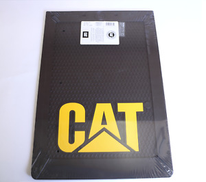 1x Large Caterpillar Cat Mud Flap Black With Raised Cat Logo 4x4 Ute 4wd