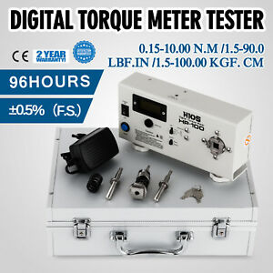 Hp 100 Digital Torque Meter Tester Screw Driver In Box Auto reset Timer Updated