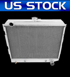 Cu2374 3 Rows Dodge Dart 1970 72 Small Block 22 Core Aluminum Radiator