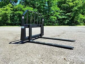 48 Pallet Forks Skid Steer Quick Attach Powder Coated Free Shipping
