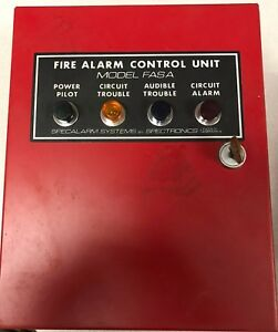 Spectronics Fasa 1 Zone Fire Alarm Control Panel With Key