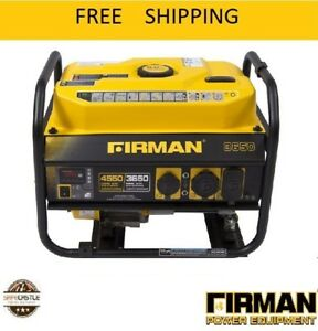 Firman Power Equipment P03601 Gas Powered 3650 4550 Watt Portable Generator