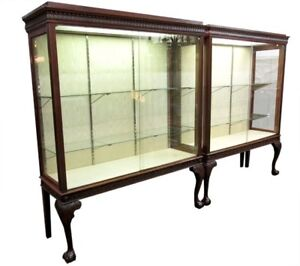 Set Of Antique Store Display Cabinets