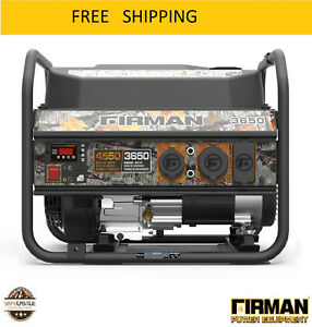 New Firman Performance Series P03609 Camo Edition Gas Powered 3650 4550 watt