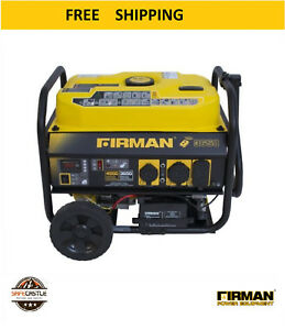 New Firman Power Equipment P03603 Gas Powered Portable Remote Start Generator