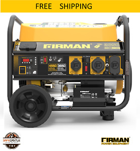 New Firman Power Equipment P03612 3650 4550 Watt Portable Gas Generator