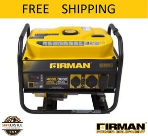 Firman Performance Series Gas Powered 3650 4550 Watt Portable Generator P03607
