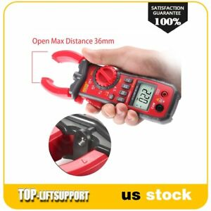 Manual auto Range Switch Digital Clamp Multimeter With Full Icon Display 6v 600v