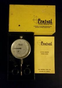 Vintage Central Tool Company Timing Gauge Dial Indicator