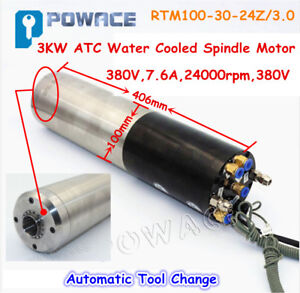 3kw Atc Water Cooled Automatic Permanent Power Electric Spindle Motor Bt30 380v