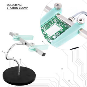 Soldering Station Clamp Pcb Circuit Board Fixture Bracket Heavy Metal Base St