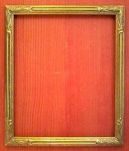 20 X 24 Std Art Nouveau Picture Frame Carved Gold Leaf 2 Wide Free Shipping