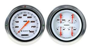 1954 1955 Chevrolet Chevy Truck Direct Fit Gauge Velocity White Ct54vsw52