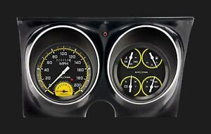 1967 1968 Chevy Camaro Direct Fit Gauge Auto Cross Yellow Cam67axy