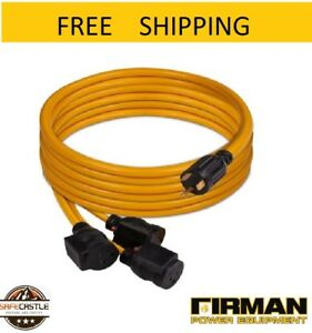 New Firman 25ft Power Cord Tt 30p 30amp To 5 20rx3 1101 Free Shipping