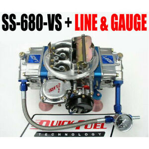 Quick Fuel Ss 680 Vs 680 Cfm Gas Vacuum With Choke Blue Line And Gauge