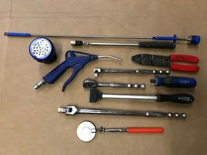 Blue Point 11pc Mixed Tool Lot Wire Strippers Ratchet Breaker Light Mirror