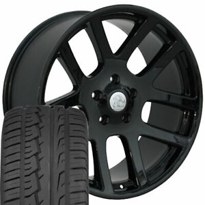 22x10 Wheels Tires Fit Dodge Ram Srt10 Laramie Hemi Dakota Blk Ironman 2223 W1x