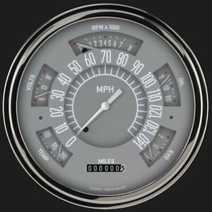 1949 1950 Ford Direct Fit Gauge Gray Fc49g