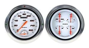 1954 1955 Chevrolet Chevy Truck Direct Fit Gauge Velocity White Ct54vsw62