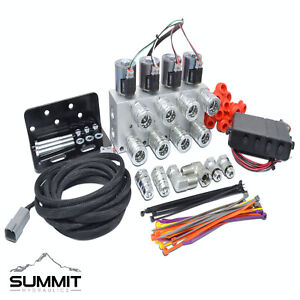 Hydraulic Multiplier Kit 4 Circuit Selector Valve Including Couplers And Switch
