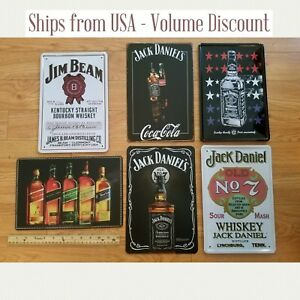 Whiskey Sign  Whiskey Tin Signs  Whiskey Gifts Jack Daniels Sign Jim Beam Sign