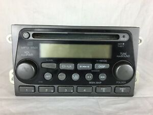 03 04 05 06 Honda Element Am Fm Radio Cd Player W Code 39101 Scv A120 C27 011