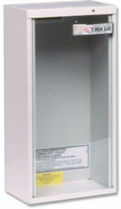 Surface Mount Galvanized Steel 20 Lbs Fire Extinguisher Cabinet Rust Resistant