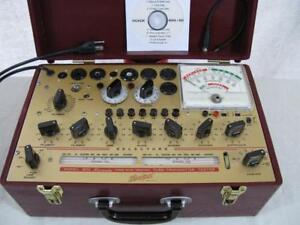 Hickok 800 Mutual Conductance Tube Tester Calibrated Specs Refinished Case