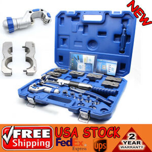 Wk 400 Hydraulic Pipe Expander Pipe Fuel Line Flaring Tool Kit Steel Universal