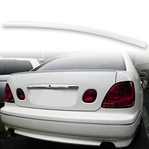 Fyralip Trunk Lip Spoiler For Lexus Gs300 Gs400 98 05 Painted Diamond White 051