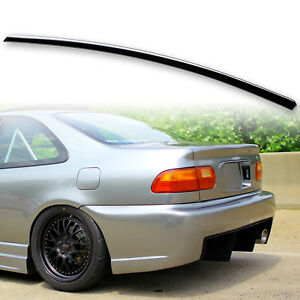 Painted Black Trunk Lip Spoiler Wing For Honda Civic Seden Coupe 92 95 Nh731p
