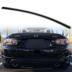 Fyralip Trunk Lip Spoiler For Mazda Mx5 Miata Nc 05 15 Unpainted Matte Black