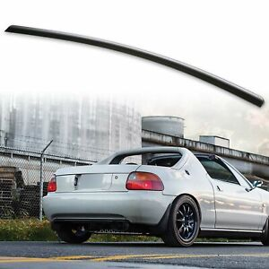 Trunk Boot Lip Spoiler For Honda Cr X Del Sol 1st 93 97 Roadster Unpainted Black
