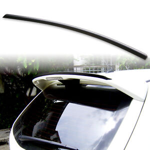 Fyralip Roof Lip Spoiler For Mazda 3 Gen 1 Bk 04 09 Hatchback Unpainted Black