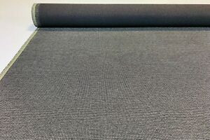 Vintage Charcoal Gray Tweed Automotive Seat Cover Fabric Upholstery Auto 55 W