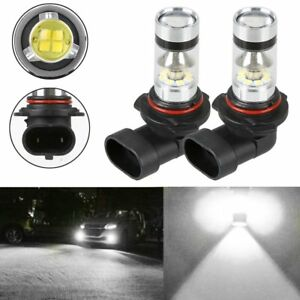 2x H10 9145 9006 9140 6000k White 100w High Power Led Fog Light Driving Bulb