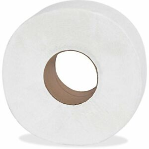 Jumbo Commercial Roll Toilet Paper Large Tissue 2 Ply Bathroom Office 12 Pack