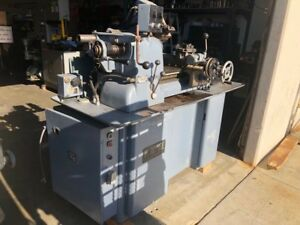 Nice Hardinge hc Super Precision Chucking Lathe W Auto Threading Attachment