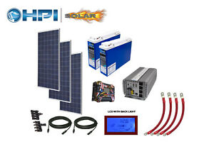 4080 Watt Solar Panel System w batteries Complete Kit Diy
