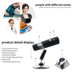 Wireless Wifi 8led Usb Digital 2mp 1080p Microscope Magnifier Video Camera stand